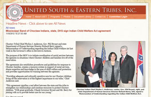Signing ceremony for the Choctaw MOU